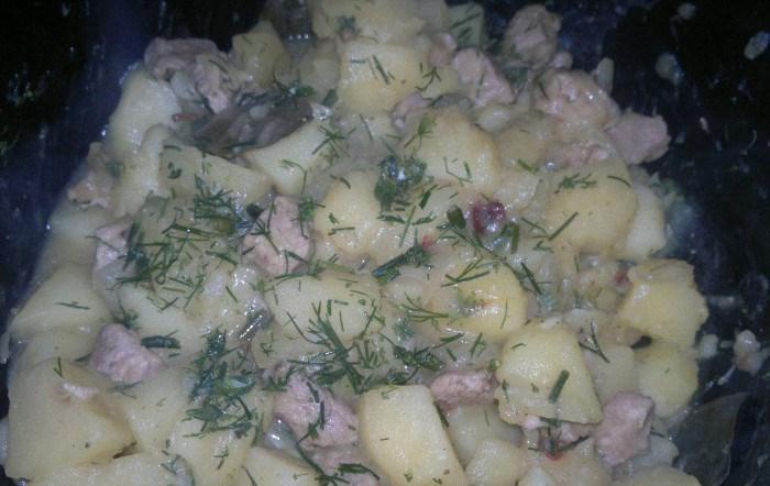 Тушеная картошка со свининой - фото шаг 4