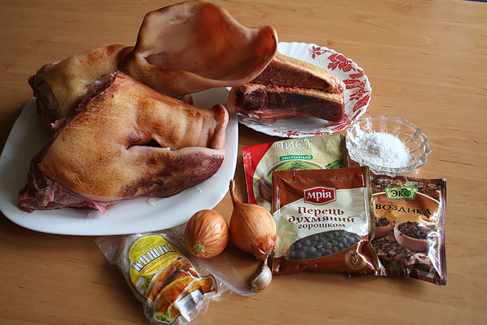 Рецепт Домашняя колбаса из свиной головы