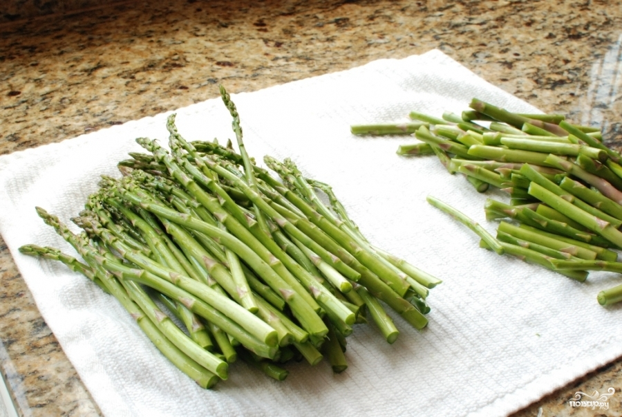 жареная спаржа рецепты с