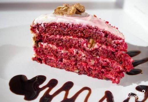 рецепт пошаговый торт красный бархат рецепт