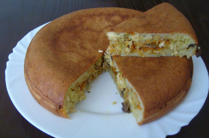 рецепт пирогов из слоеного теста с курицей