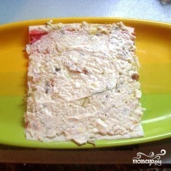 Крабовый торт - фото шаг 2