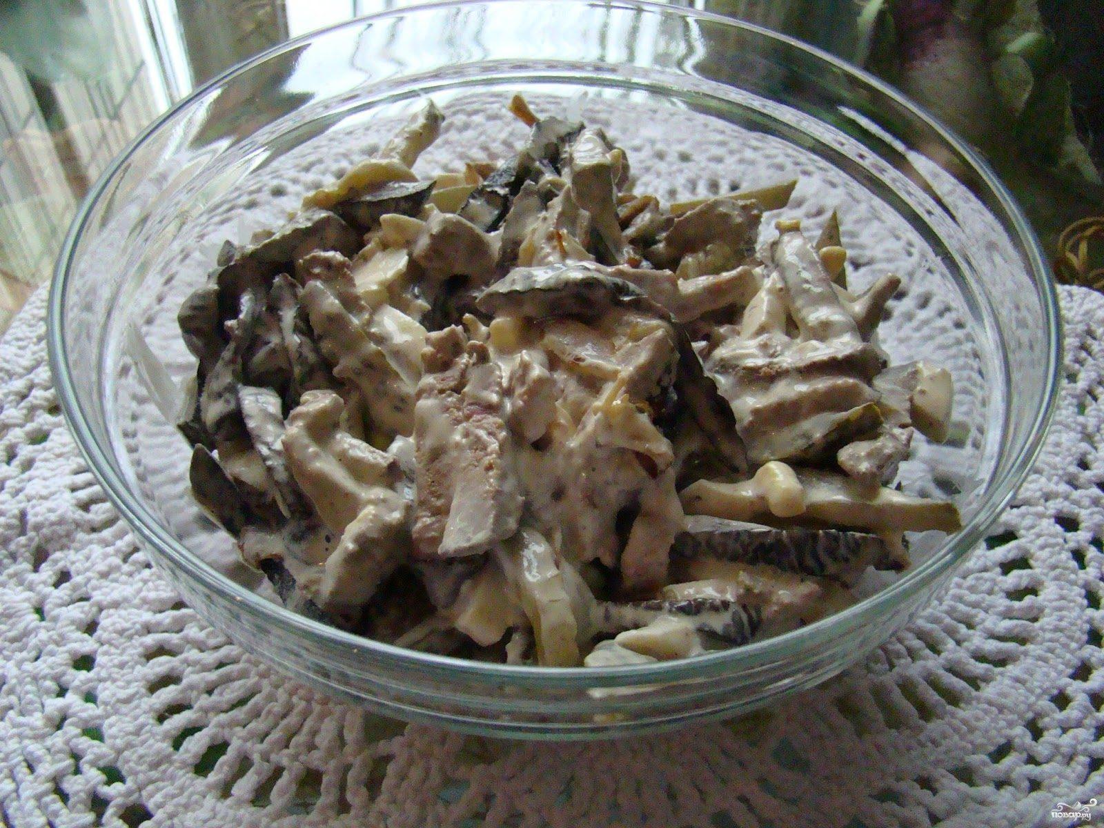 Салат с печенью белорусский