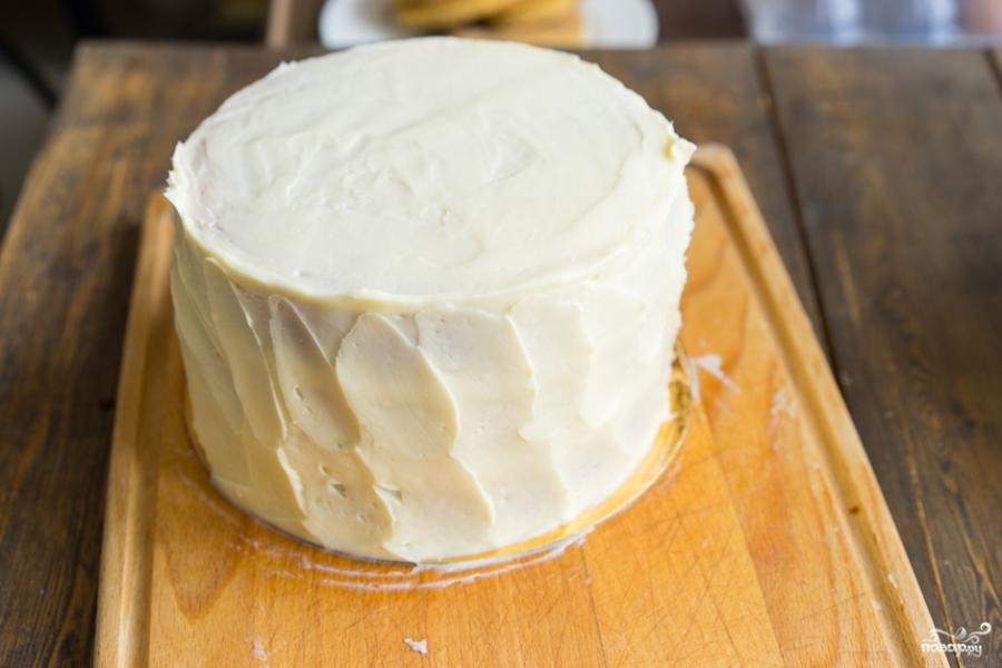 Как украсить бисквитный торт в домашних условиях видео