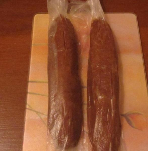 """Пирожное """"Шоколадная колбаска"""" - фото шаг 7"""