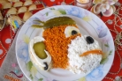 Салат Обезьянка с корейской морковкой