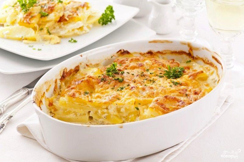Рецепт Гратен из тыквы с сыром