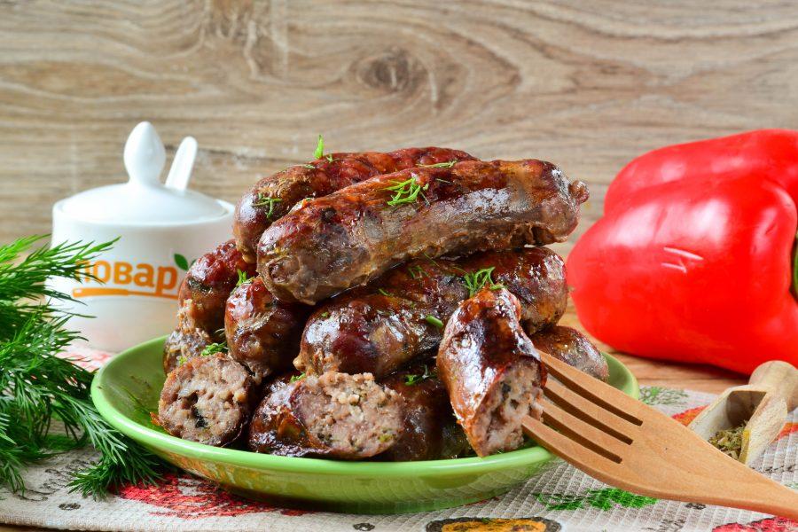 Колбаски с зеленью и чесноком