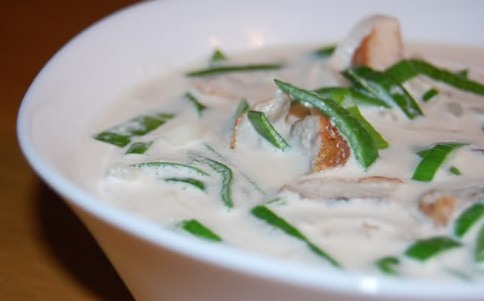 Сливочный суп с угрем рецепт