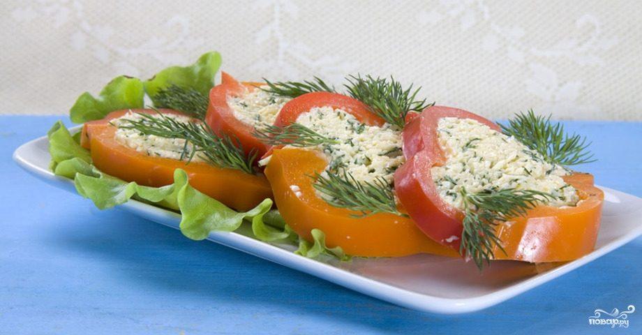 Рецепт Закуска из сладкого перца с сыром