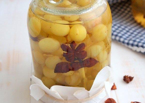 Виноград в сиропе - фото шаг 6