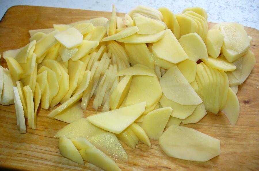 Рецепт Свинина по-французски с картофелем