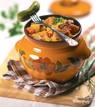 Рецепт Картошка в горшочках в микроволновке