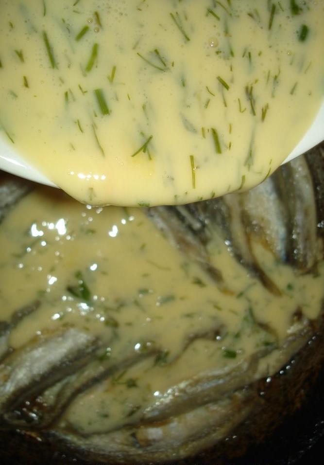 Омлет рыбный - фото шаг 5