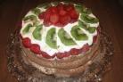Торт Клубника и шоколад