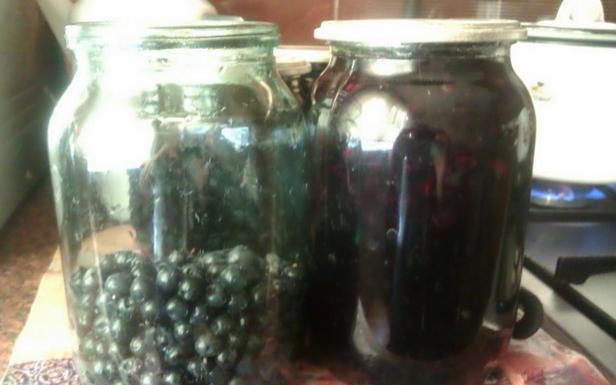 Рецепт Черничный компот
