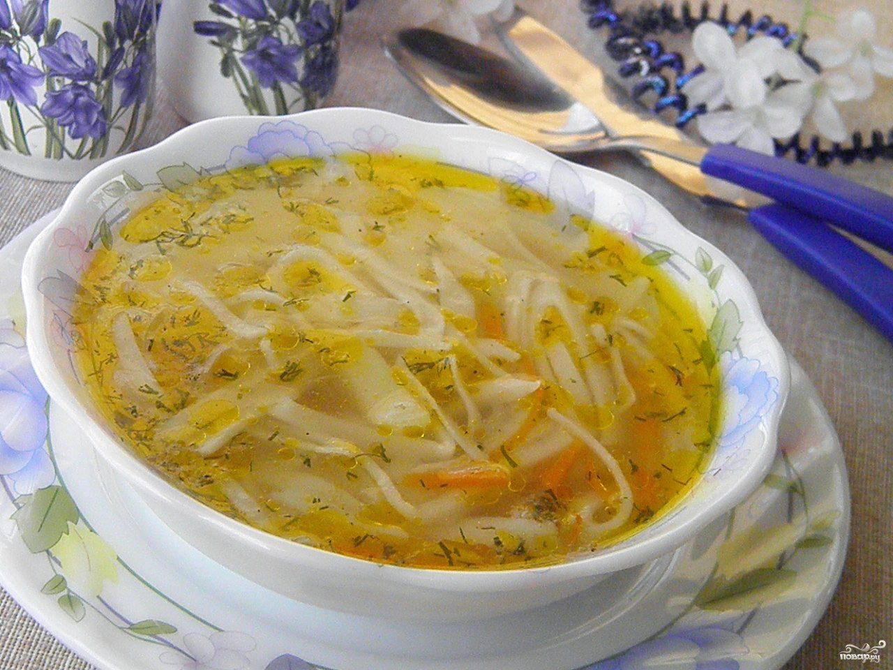 Вегетарианский суп с лапшой