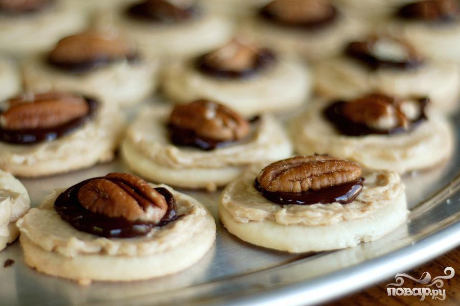 Печенье с кремом мокко и орехами - фото шаг 5