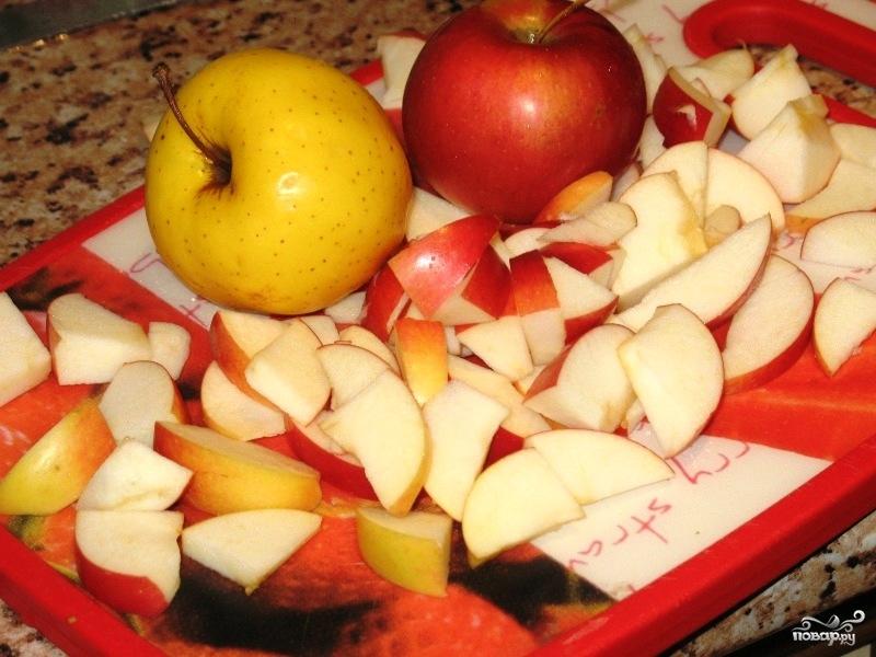 Постный пирог с яблоками - фото шаг 2