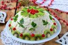 Праздничный мясной салат
