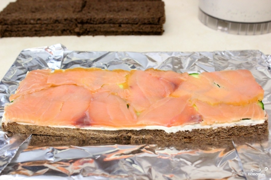 Торт с копченым лососем - фото шаг 5