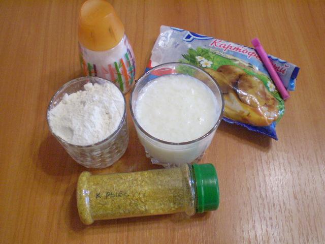 Рецепт Кляр на кефире для рыбы