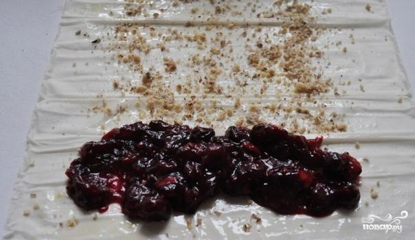 Штрудель с вишней из теста фило - фото шаг 7