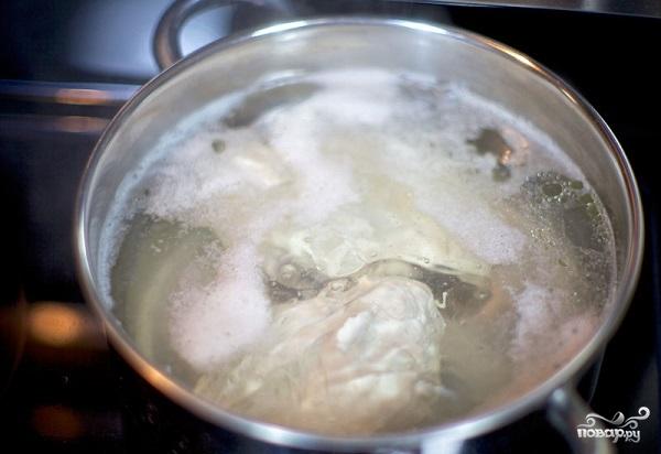 Куриный салат с грибами - фото шаг 1