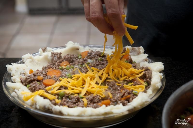 Картофель с фаршем в духовке слоями с сыром
