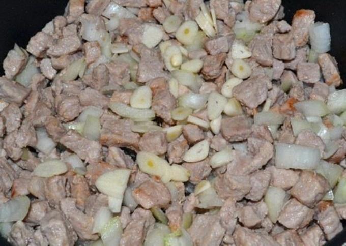 Рецепт Свинина с кабачками и помидорами