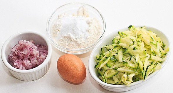 Рецепт Кабачковые оладьи в духовке