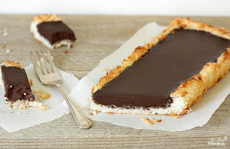 Рецепт Пирог с шоколадным кремом ганаш