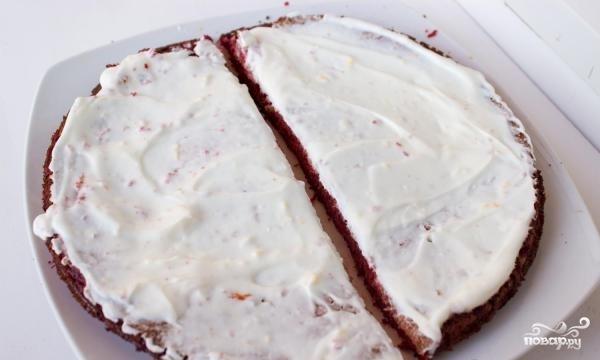 "Торт ""Красный бархат"" без красителя - фото шаг 8"