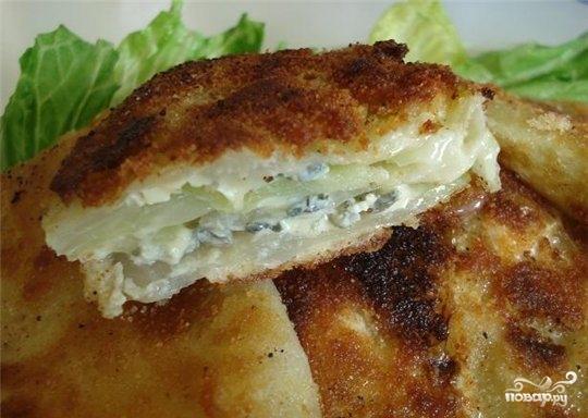 Шницель капустный с сыром
