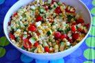 Салат из кукурузы, цукини и помидоров