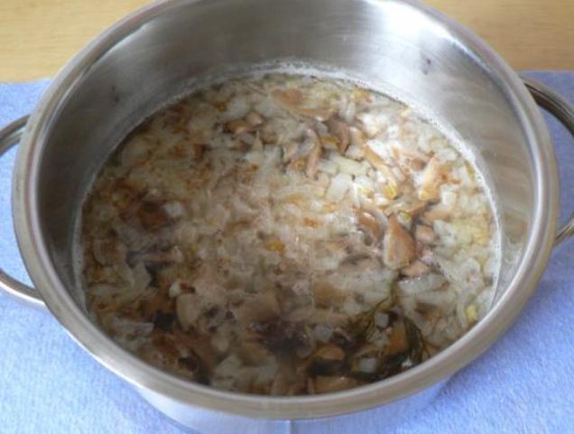 Суп из соленых грибов   - фото шаг 3