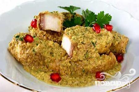 Рецепт Рыба под соусом сациви
