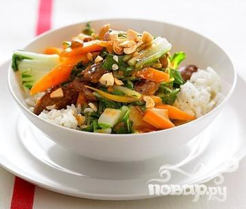 Рецепт Жаркое из говядины с китайской капустой