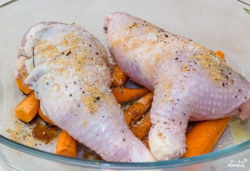 Фаршированные куриные окорочка в духовке - фото шаг 8