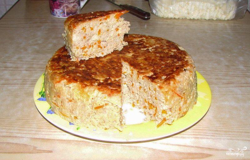 Фарш с рисом в духовке