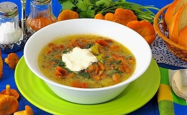 Суп грибной из лисичек - фото шаг 11