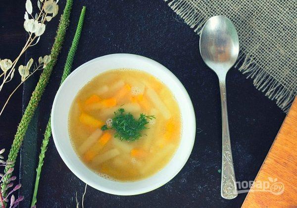 несложный суп на мясном бульоне рецепт