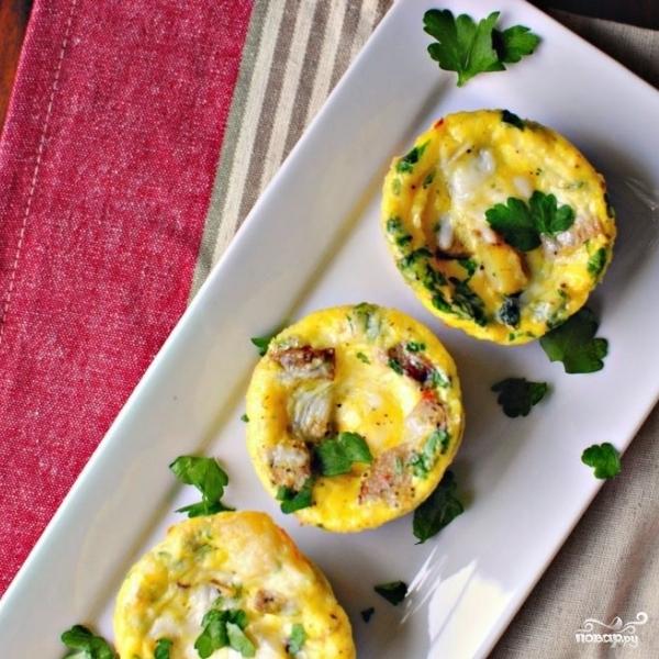 Суфле с картофелем и колбасками - фото шаг 11