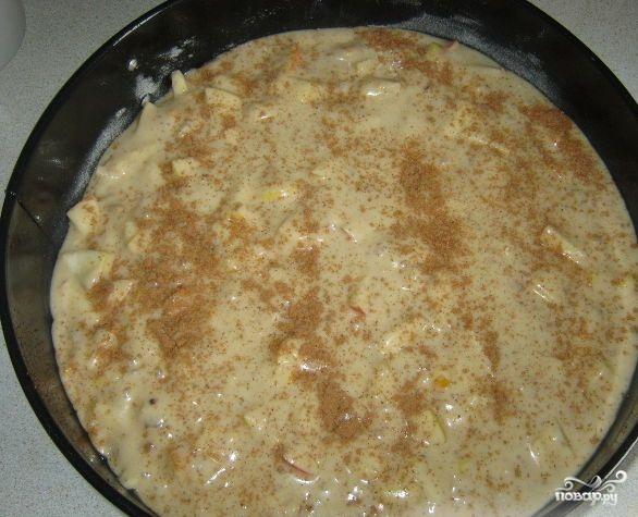 Постный яблочный пирог с корицей - фото шаг 7