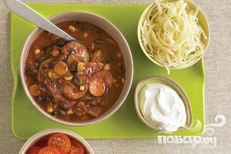 Рецепт Жаркое из фасоли, кукурузы и помидоров