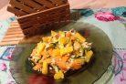 Рис с морковкой, цуккини и апельсином