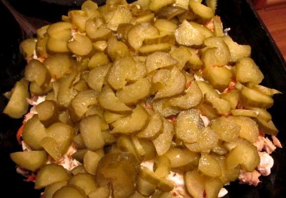 Салат с рисом и горбушей - фото шаг 4