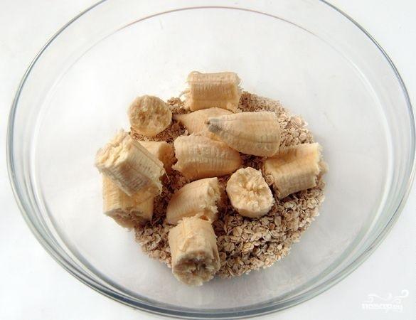 Банановое печенье с овсяными хлопьями - фото шаг 2