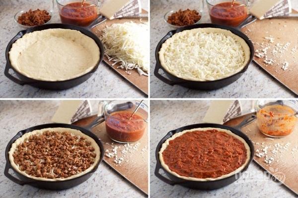 Чикагская пицца - фото шаг 4