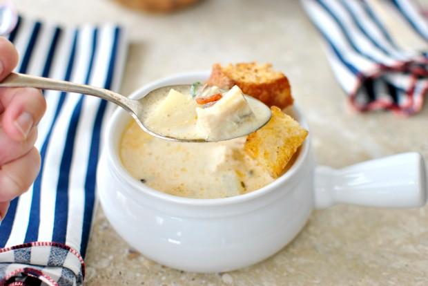 Рыбный суп с гренками - фото шаг 10